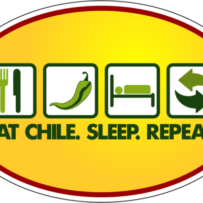 Eat Chile Sleep Repeat - Oval